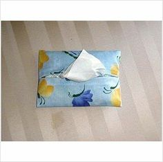 Purse / Pocket Size Tissue Cover - Butterflies / Blue on eBid United States