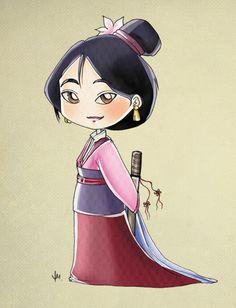 Chibi Mulan by tooliepanna.deviantart.com on @deviantART