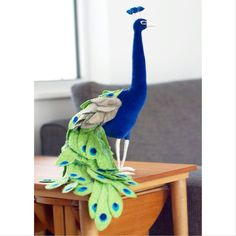 Teal peacock by AtelierCaroline on Etsy