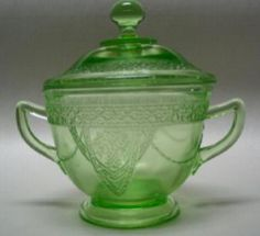 Pattern: Georgian Love Birds Depression Glass Manufacturer: Federal Glass Company