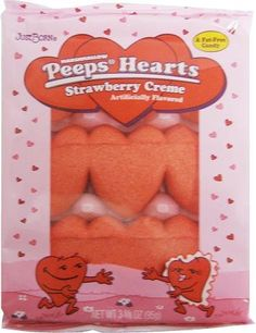 Marshmallow Peeps Strawberry Creme Hearts 9ct. « Holiday Adds
