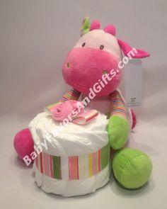 Sweet Baby Girl Giraffe Diaper Cake http://babyfavorsandgifts.com/sweet-baby-girl-giraffe-diaper-cake-p-349.html