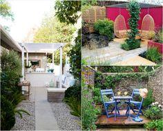 Gartengestaltung Ideen Kleine Garten  Sitzbereich Stuehle Hangesessel Sitzbanke