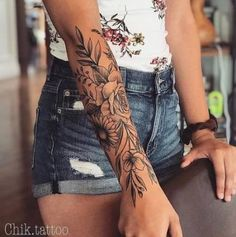 Tattoo forearm sleeve women tatoo 60 new ideas – Tattoo Designs Floral Arm Tattoo, Floral Tattoo Design, Tattoo Flowers, Floral Tattoo Sleeves, Floral Sleeve, Tattoos For Women Half Sleeve, Forearm Sleeve Tattoos, Woman Tattoo Sleeves, Roses Half Sleeve Tattoo