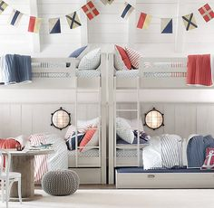 Haven Twin-over-Twin Bunk Bed | Restoration Hardware | $1,699 | Trundle available for $449