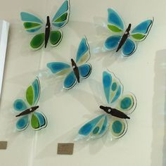 Glass butterflies by Jo Downs