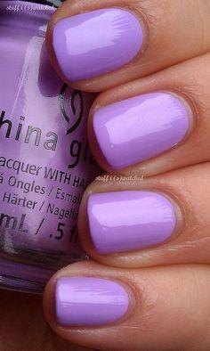 Neon~Pastel~Lavender Nail Polish.  China Glaze LOTUS BEGIN