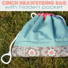 Drawstring bag - with dimensions for 2-4 year olds