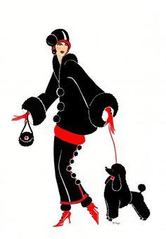 Art Deco Lady - Mitzi Canvas Print / Canvas Art by Di Kaye