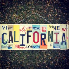 California License, License Plate Art, House Warming, Beach House, Plates, Signs, Gift, Travel, Etsy
