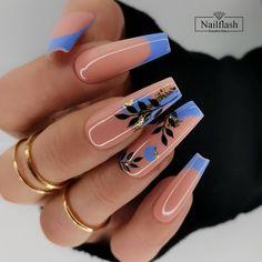 Glow Nails, Aycrlic Nails, Swag Nails, Best Acrylic Nails, Acrylic Nail Designs, Stylish Nails, Trendy Nails, Nagellack Design, Coffin Shape Nails