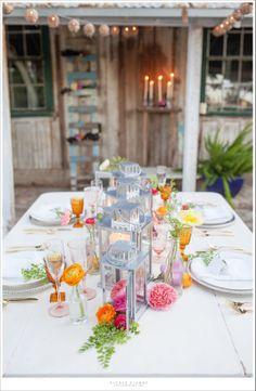 Whimsical lantern table setting