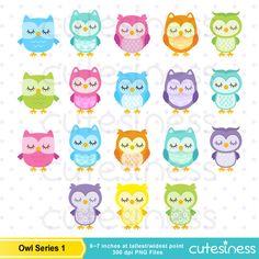 Owl Digital Clipart  Owl Clipart Sleeping Owl Clipart
