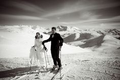 The couple that skies together... https://www.whistlerblackcomb.com/groups/weddings #WhistlerWedding