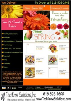 Town and Country Florist Website #techknowsolutions