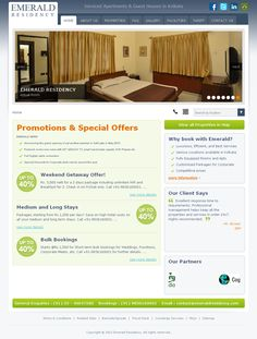 Website Design and Development for Emerald Residency