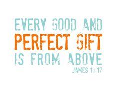 Religious Baby Nursery Art Print - Perfect Gift - Bible Verse for Children - Aqua and Orange 5x7. $12.00, via Etsy.