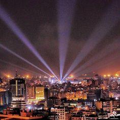 #Beirut shines at night  By Wissam Aoufan #WeAreLebanon  #Lebanon #WeAreLebanon
