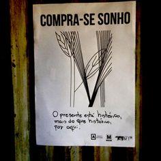 """ultralits: """" lambe do livro Compra-se sonho, de Katherine Funke. editora Músculozine , 2016. parte integrante da Ocupação Coaty, em Salvador, Bahia. Brasil. """""""