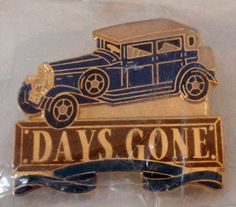 Jewelry DAYS GONE Auto Model enameled Tie Tacks -Lapel- hat gold toned Pin D2 #none