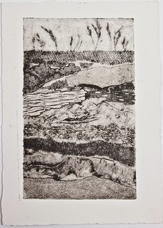 landscape collagraph