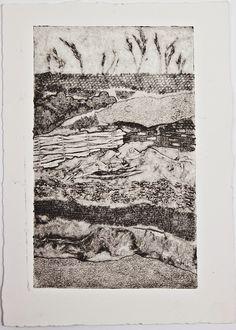 landscape collagraph