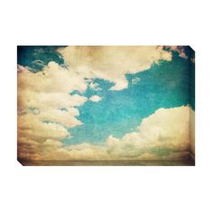 Vintage Clouds IV Oversized Gallery Wrapped Canvas | Overstock.com great for interview room or even lobby - you could do a set of each of these cloud images.