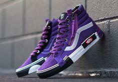 Vans Reissue CAP Violet Indigo Release Date - SBD Source by breytencowen Shoes Vans Shoes Fashion, Mens Vans Shoes, Vans Men, Cool Vans Shoes, Crazy Shoes, Me Too Shoes, Vans Sk8 Hi Outfit, Janoski Nike, Vans Sk8 Hi Reissue