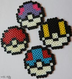 Perler beads pokeballs. We ❤ pokemon. Instagram: @bmatamacrame