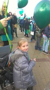 Annabelle charlies sister gets ready to release her balloon into the air.2012