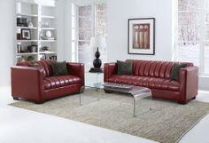 160 San Marino Red Sofa and Loveseat - learn more at http://www.furnitureurban.com