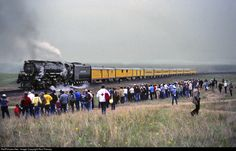 UP 3985 Union Pacific Steam 4-6-6-4 at Emkay, Wyoming by Ron Flanary
