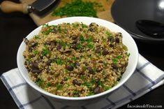 Quinoa con frijoles negros y cilantro #QueRico Cilantro, Healthy Food Choices, Healthy Recipes, Vegetarian Lifestyle, Fried Rice, Grains, Clean Eating, Lunch, Beef