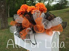 Fall Headstone Gravestone Saddle Mailbox Topper by AllForLala