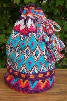 Bolsos de ganchillo: Diseños y patrones - Bolso de ganchillo de estilo hippie