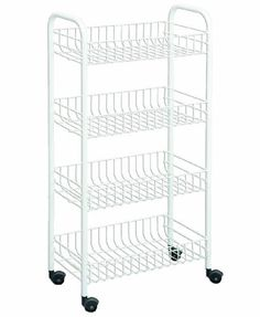 Sterilite 28348002 7 Drawer Cart White With See Through