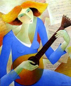 Mélodie   Peintre français Francoise Collandre