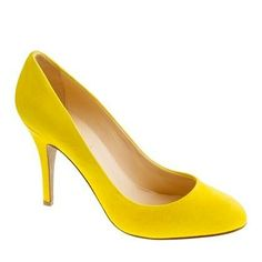 #pop of color! Mona suede pumps from J. Crew.