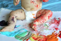 Scented Homemade Edible Paint #kids #summer #fun