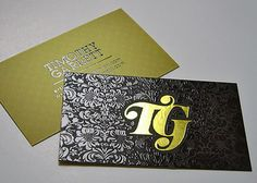 Silk Business Cards with Foil & Spot UV