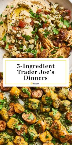 If you're looking for fast, simple meals, one of the smartest places to shop is Trader Joe's. Here are five quick weeknight dinners you can make with some of our favorite TJ's finds. Trader Joe's, Trader Joes Food, Trader Joe Meals, Planning Budget, Meal Planning, 5 Ingredient Dinners, 5 Ingredient Recipes, Joe Recipe, Sweet Potato Gnocchi
