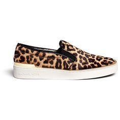 7ad9a1185cb6 Michael Kors  Kyle  cheetah print calf hair slip-ons (855 VEF)