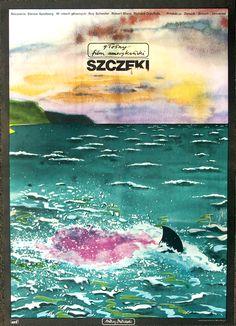 Jaws (Steven Spielberg, 1975) Polish design by Andrzej Dudzinski