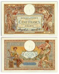 France  100 Francs 25.2.1937 (Blacksmith, woman with child)