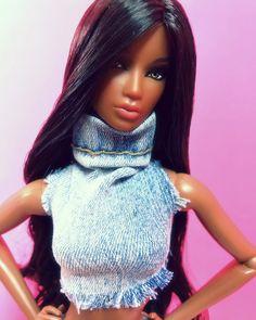 Barbie Room, Barbie Hair, Barbie Barbie, Beautiful Barbie Dolls, Pretty Dolls, Fashion Royalty Dolls, Fashion Dolls, Diva Dolls, African American Dolls