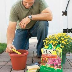 Gardening Tip - Place a sponge in the bottom of your planter or container before adding soil, to keep water in reserve. For more great tips, check out our Facebook page - https://www.facebook.com/MyGardenShine