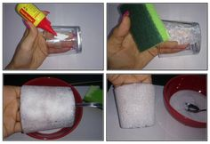 Jak vyrobit zmrzlý zimní svícen a vázu Creative