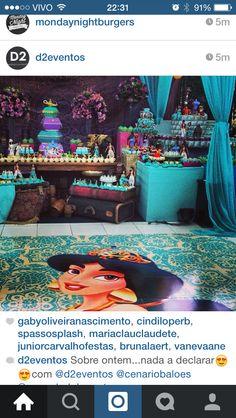 Inspiração festa Aladdin