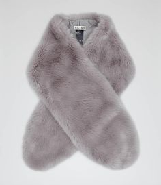 FALL SHOPPING: 12 Faux-Fur Stoles That Look Better Than the Real Thing - Gray Faux Fur Stole, at Reiss
