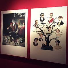 En @panta_rhei_madrid exposición 'Cumbres Borrascosas' de Emily Brontë. @treshermanased  ....hasta el 7Mayo  #cumbresborrascosas #WutheringHeights #fernandovicente #emilybrontë #treshermanasediciones #Panta_Rhei_madrid